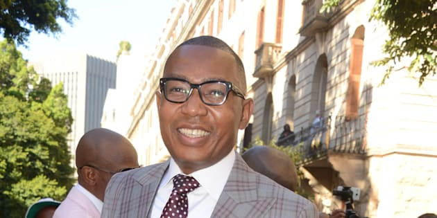 Deputy Minister of Higher Education Mduduzi Manana at the 2017 State of the Nation address  in Cape Town on February 9 2017.