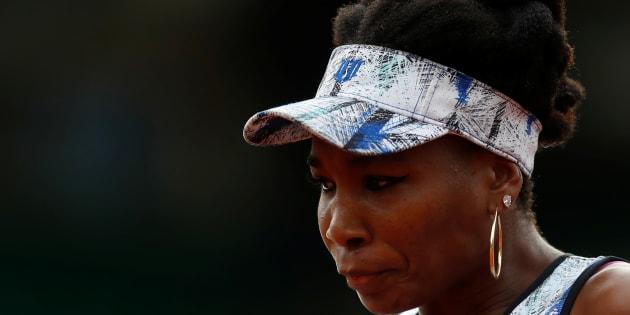 Venus Williams en un partido de Roland Garros el 2 de junio de 2017.