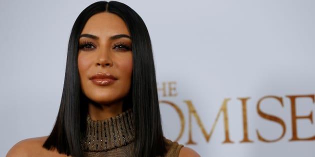 Kim Kardashian en un estreno en Los Angeles, California, en abril de 2017.