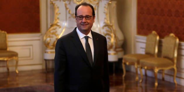 Le Président François Hollande à Prague, République Tchèque, le 30 novembre 2016.
