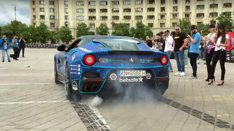 Ferrari F12 TdF Shrieks Like A Banshee On The Gumball