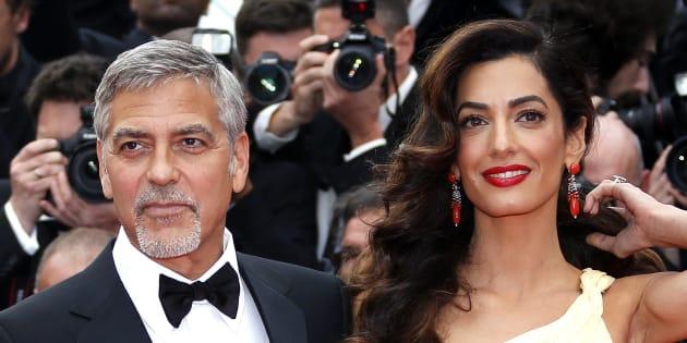 George Clooney et sa femme Amal au Festival de Cannes le 12 mai 2016.