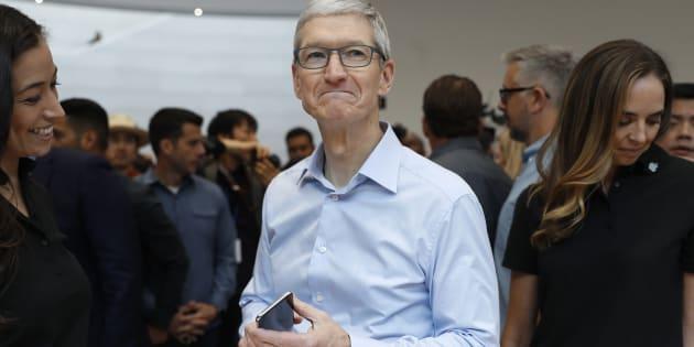 Tim Cook, PDG d'Apple, en Californie le 12 septembre (Image d'illustration).