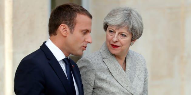 Emmanuel Macron et Theresa May à l'Élysée, en juin.