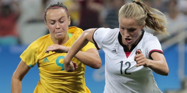 The Matildas have failed to upset Germany at the Rio Olympics.