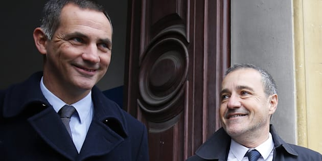 Gilles Simeoni et Jean-Guy Talamoni à Bastia le 3 décembre 2017.