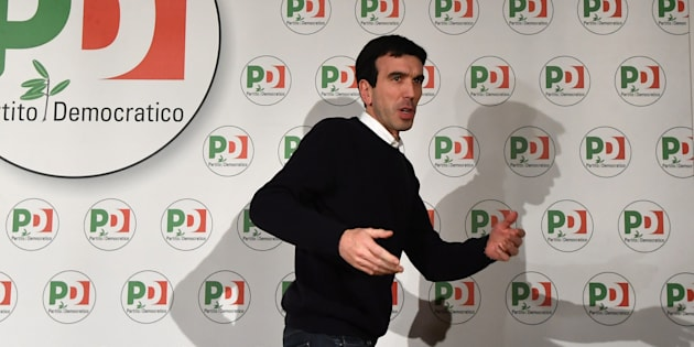 Maurizio Martina, Agriculture Policies Minister and member of the Democratic Party (PD), leaves after a press conference following the first exit polls of the general elections, at the PD headquarters in Rome early on March 5, 2018.  An exit poll by private channel La7 put Lega Nord's coalition at between 32 and 37.6 percent and the Five Star Movement between 28.8 and 30.8 percent. The ruling centre-left Democratic Party was trailing in third place, according to the exit polls. / AFP PHOTO / Tiziana FABI        (Photo credit should read TIZIANA FABI/AFP/Getty Images)