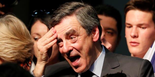 Francois Fillon à Pertuis le 15 mars 2017.