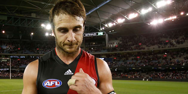 Jobe Watson, now without a Brownlow Medal.