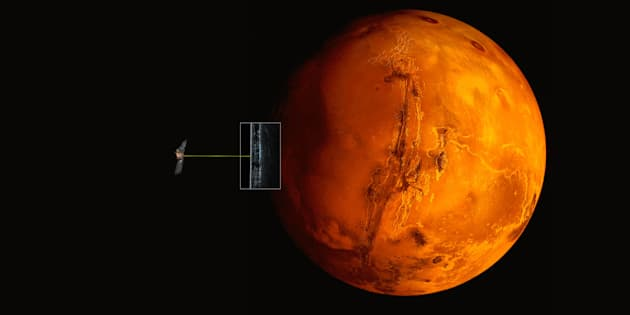 """Il y aurait un grand """"lac souterrain"""" d'eau liquide sur Mars"""