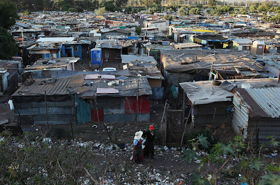 A bird's-eye view of Good Hope informal settlement in Ekurhuleni