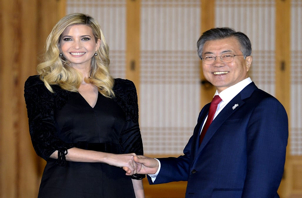 Ivanka Trump arrived in South Korea on Friday ahead of a weekend that will  be spent cheering on Team USA. But before this weekend's festivities, ...