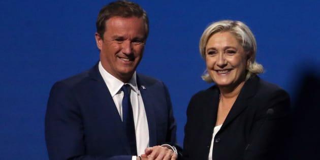 """""""Fake news"""": Marine Le Pen et Nicolas Dupont-Aignan s'insurgent après le vote de propositions de loi."""