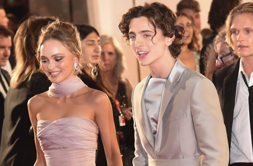 Timothée Chalamet and Lily-Rose Depp make red carpet debut
