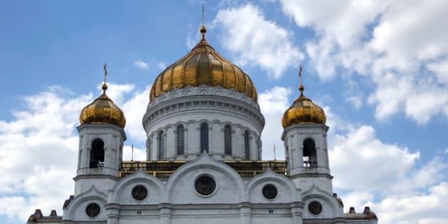 La Catedral de Cristo Salvador es una construcción reciente. La original que estaba inspirada en la Hagya Sophia de Istambul, fue dinamitada por órdenes de Stalin. Cuando no se pudo concluir el edificio soviético más grande e importante de la historia por falta de recursos, fue una alberca pública. Foto: Laura Manzo #ShotoniPhone