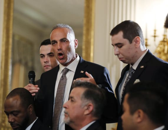 Shooting victim's dad gives passionate speech at WH