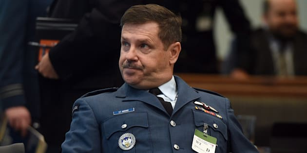 Lt. Gen. Pierre St-Amand appears as a witness at a commons national defence committee in Ottawa on Sept. 14, 2017.