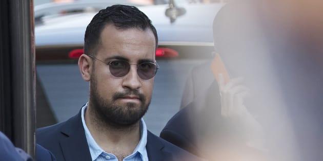 Alexandre Benalla (ici le 16 juillet), Vincent Crase et les trois policiers mis en examen après les violences du 1er mai