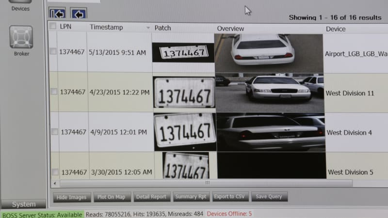 License plate surveillance system suspended for being inaccurate