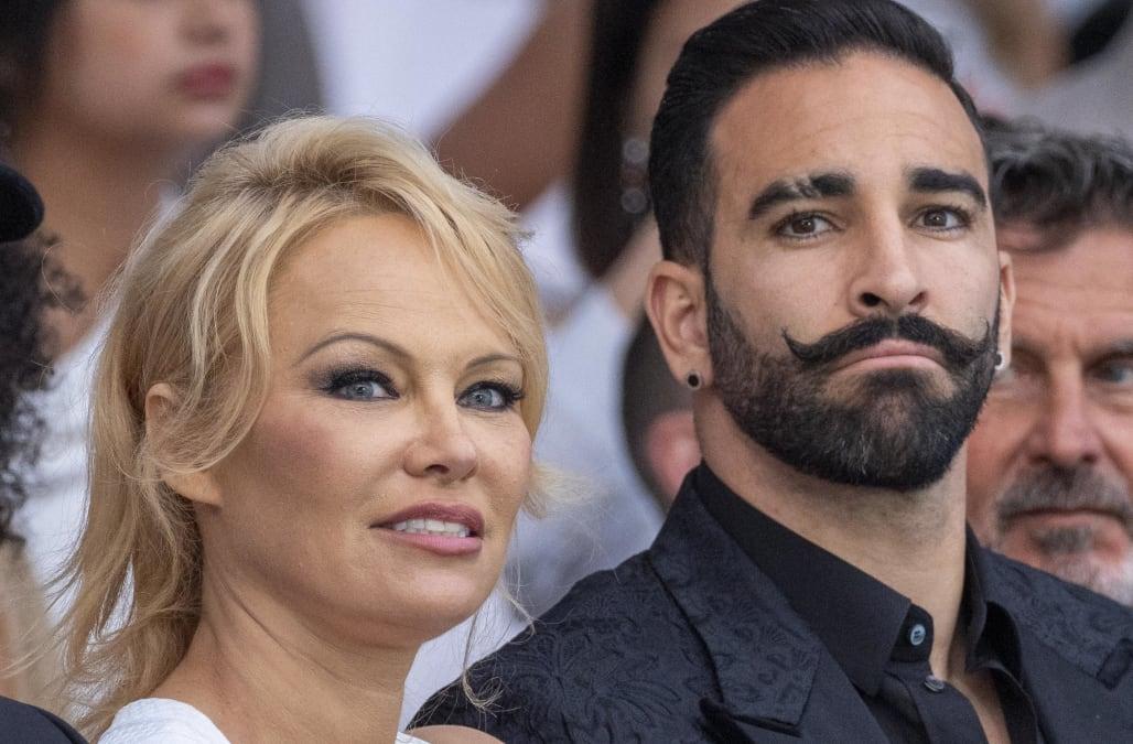 Pamela Anderson splits from soccer star boyfriend Adil Rami