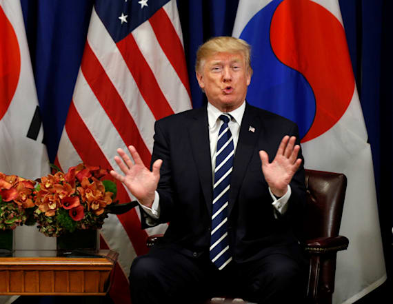 Trump jokes after Moon Jae-in says 'deplorable'
