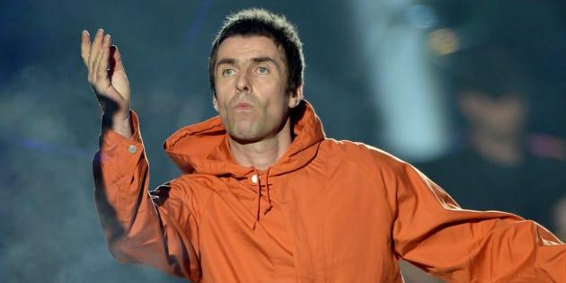 """Liam Gallagher sur la scène du concert """"One Love Manchester, dimanche 4 juin."""