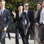 Cara Delevingne en haut-de-forme et queue-de-pie au mariage de la Princesse Eugénie