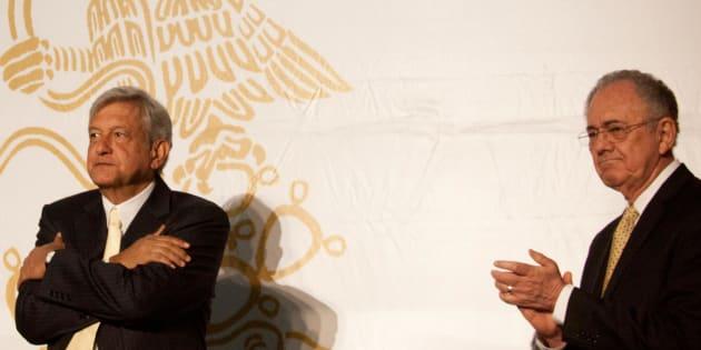 Andrés Manuel López Obrador y Javier Jiménez Espriú.