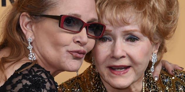 Carrie Fisher et Debbie Reynolds le 24 janvier 2015 à Los Angeles.