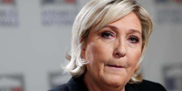 Marine Le Pen en conférence de presse à l'Assemblée nationale le 10 janvier.