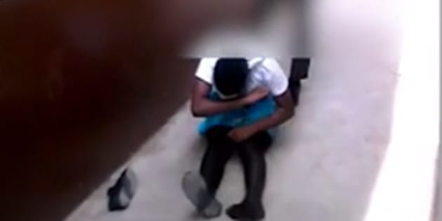 Screengrab from the video of a learner attacking a schoolgirl from Siyathuthuka High School in Inanda.