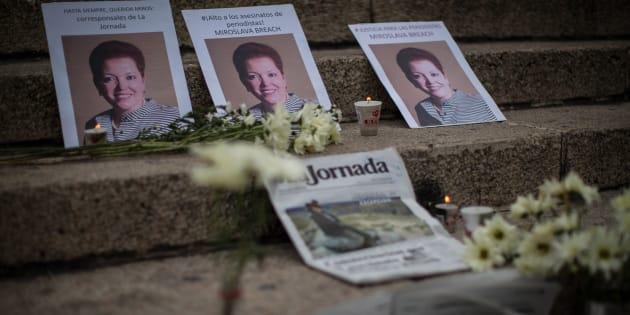 Justicia, exigen periodistas a dos meses del asesinato de Miroslava Breach