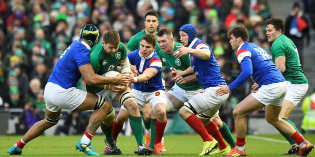 Lors d'Irlande-France au Tournoi des 6 Nations à Dublin, le 10 mars.