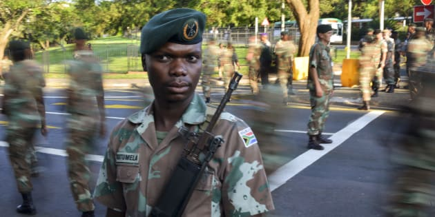 Members of the South African National Defence Force.