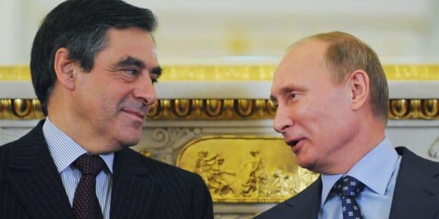 Vladimir Poutine et François Fillon à Moscou, en 2011.