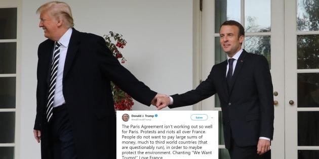Donald Trump a livré sa vision des gilets jaunes. Elle ne va pas plaire à Emmanuel Macron, qu'il a reçu en avril dernier à la Maison Blanche.