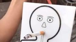 Questo è quello che resta nei polmoni dopo una sola