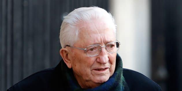 L'ancien dirigeant de la CFDT Edmond Maire, aux obsèques de Michel Rocard.