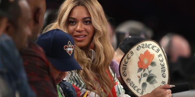 Beyoncé au NBA All-Star Game dimanche 19 février à La Nouvelle-Orléans.