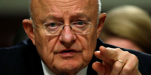 Director of National Intelligence James Clapper testifies before a Senate Armed Services Committee hearing on foreign cyber threats, on Capitol Hill in Washington, U.S., January 5, 2017. REUTERS/Kevin Lamarque      TPX IMAGES OF THE DAY