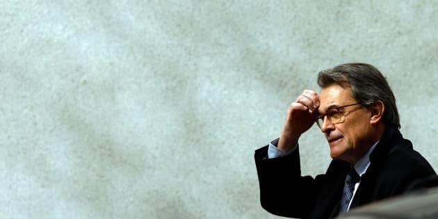 El expresidente de Cataluña, Artur Mas, tras declarar el pasado febrero en el Tribunal Supremo, en Madrid.