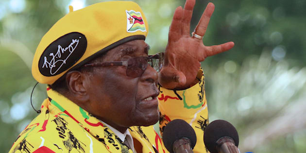 Zimbabwean President Robert Mugabe, who is under pressure from a military-backed Zanu-PF faction to resign.