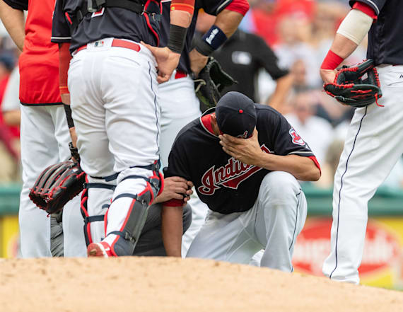Pitcher hit by line drive for third time in 4 years