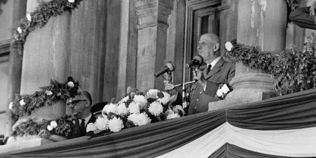 Le général Charles de Gaulle à Montréal le 24 juillet 1967.