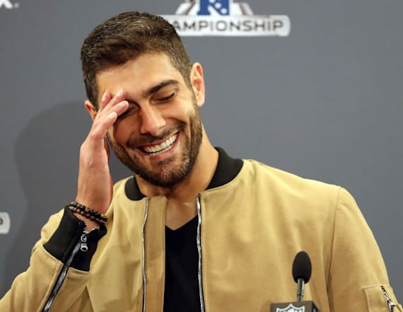 Garoppolo shares what Brady texted before Super Bowl