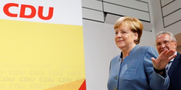 Angela Merkel après sa victoire aux législatives, le 24 septembre.