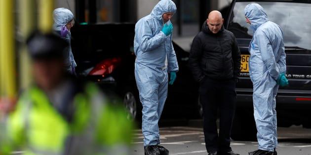 Les enquêteurs criminels sur les lieux de l'attaque du Borough Market le 5 juin.