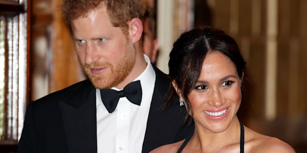 The Duke and Duchess of Sussex attend the 2018 Royal Variety Performance in London on Nov. 19.
