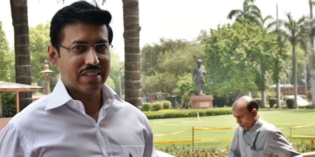 Minister of state for Information and Broadcasting Rajyavardhan Singh Rathore in a file photo.