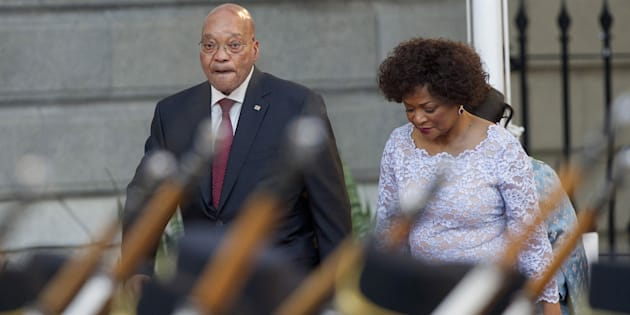 POOL New  Reuters                       South Africa's President Jacob Zuma with Speaker of Parliament Baleka Mbete